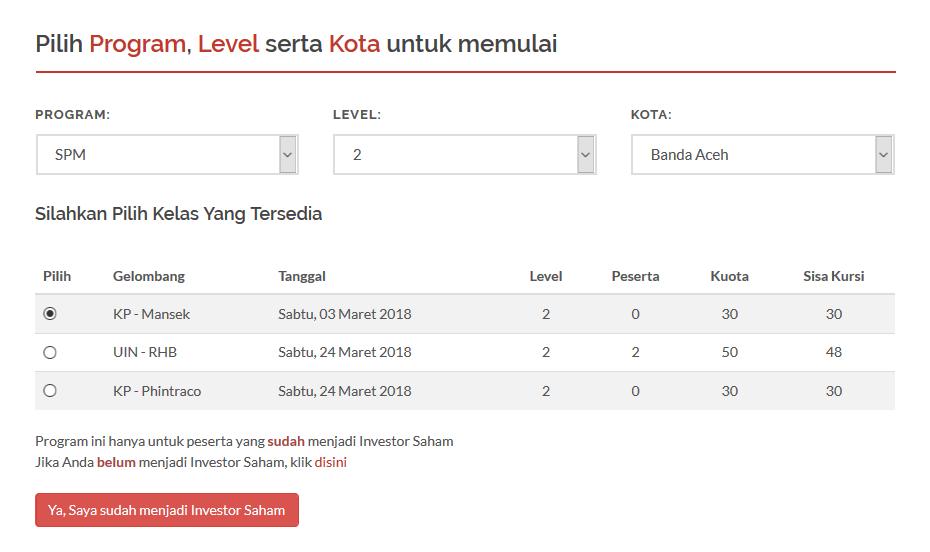 form pendaftaran sekolah pasar modal