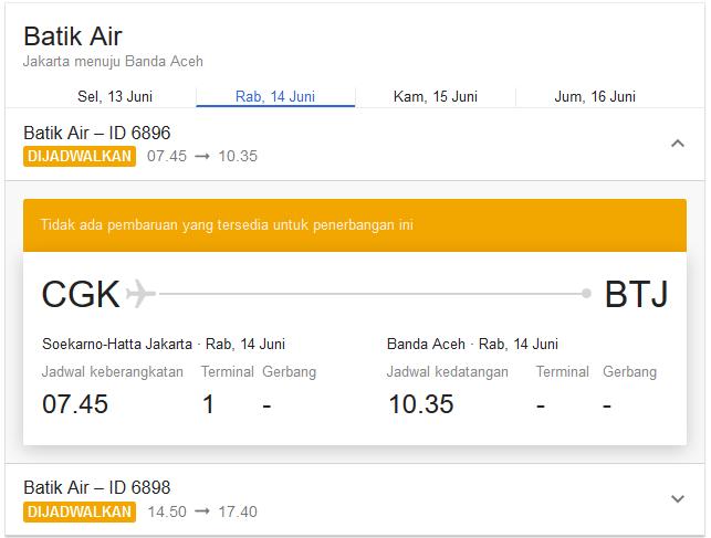 Pengalaman Terbang Dengan Batik Air Update 6 12 17