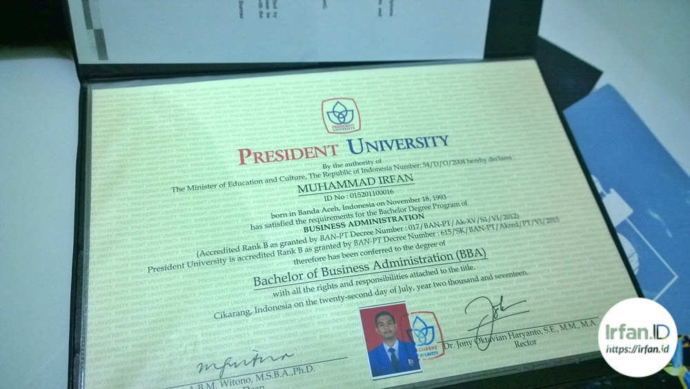 Alhamdulillah, Officially Muhammad Irfan ,B.B.A. <i>Now What?</i> 3