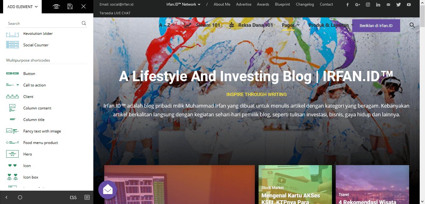 Changelog: Versi 5.0, Ini Dia Yang Baru Di Blog Irfan.ID 1