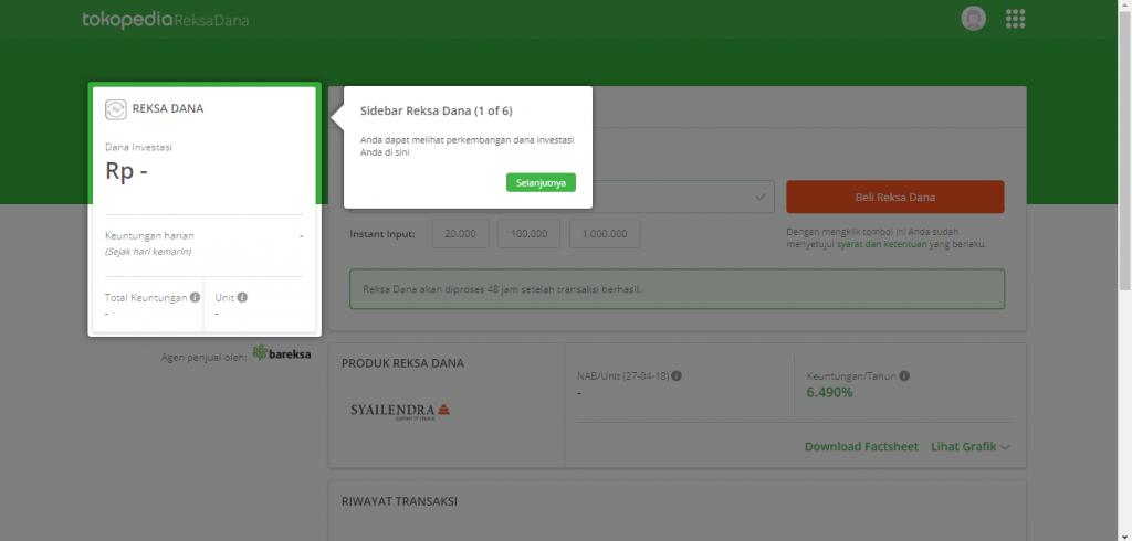Cara Membeli Reksa Dana Di Tokopedia Reksa Dana, Mulai Dari Rp 10.000 (Update 17/12/19) 16