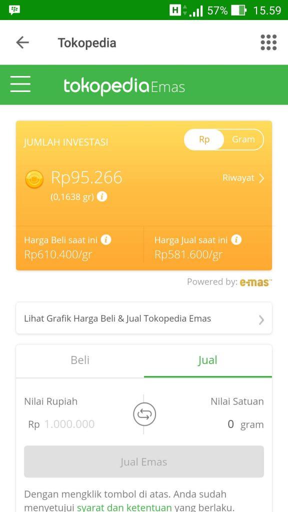Cara Membeli Emas Melalui Tokopedia Emas, Mulai Dari Rp 500* (Update 17/1/19) 14