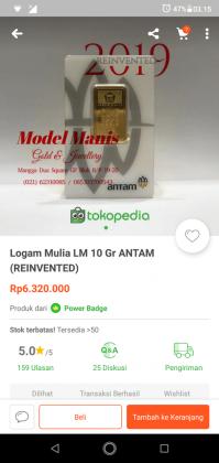 Pengalaman Beli Emas Batangan Di Tokopedia, Dapat CASHBACK Rp 500,000 2