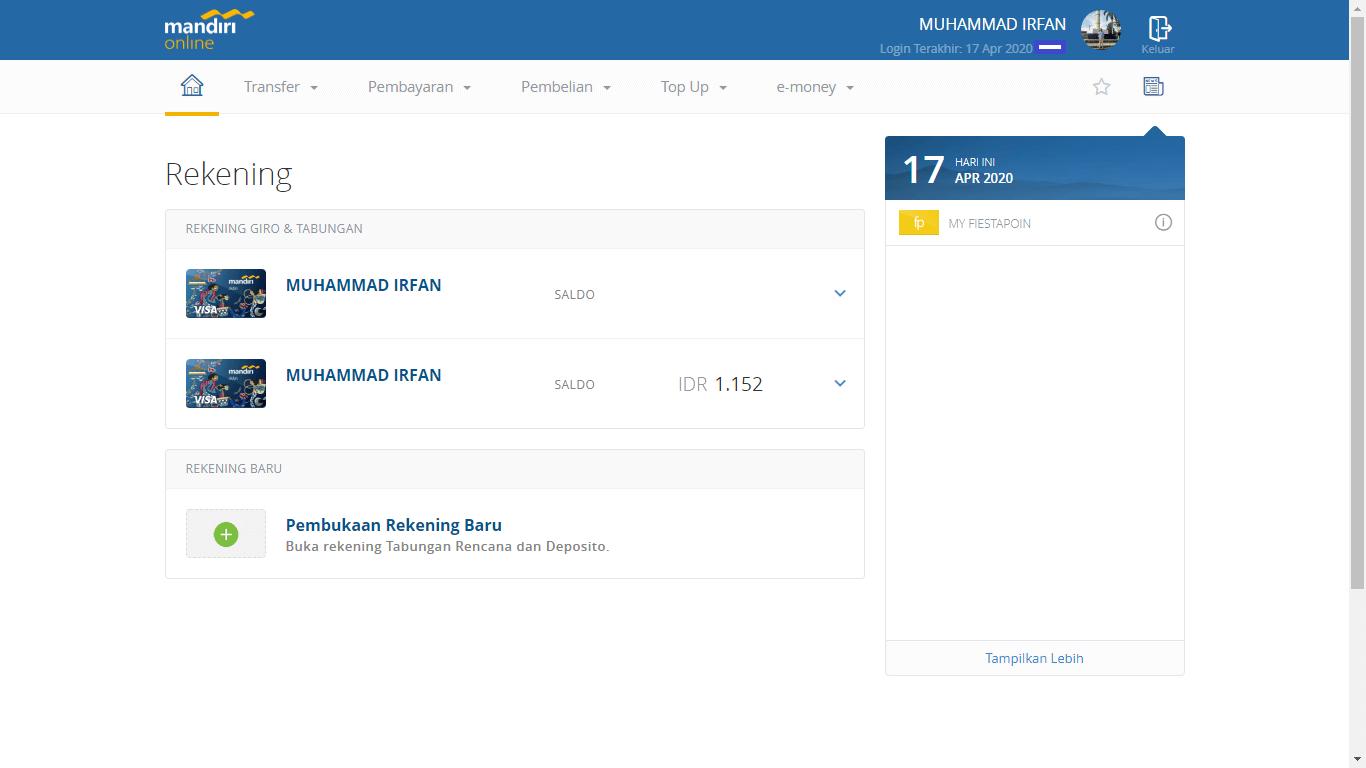 Pengalaman Deposito Bank Mandiri via Aplikasi Mandiri Online (UPDATE: 18/5/2020) 1