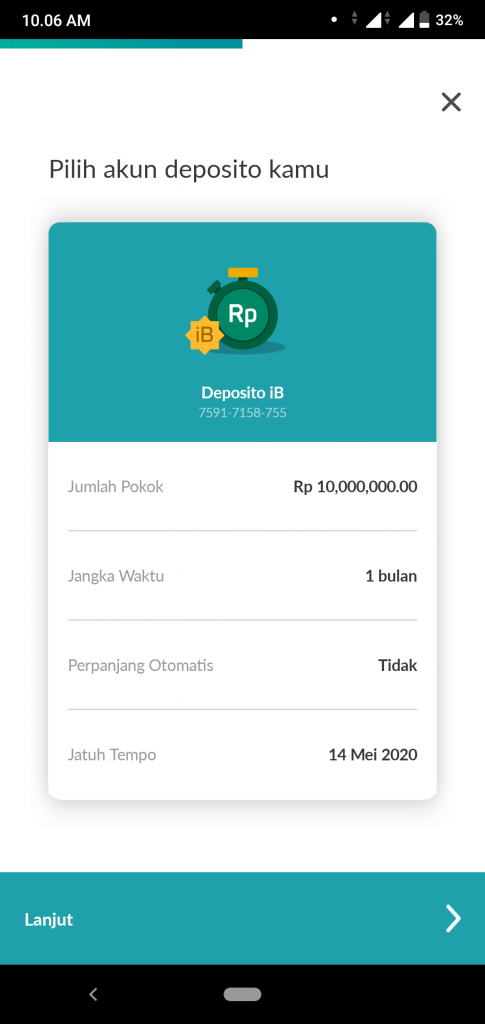 Pengalaman Deposito Syariah Rp 10 Juta Di Bank Permata via PermataMobile X (UPDATE: 14/5/20) 11