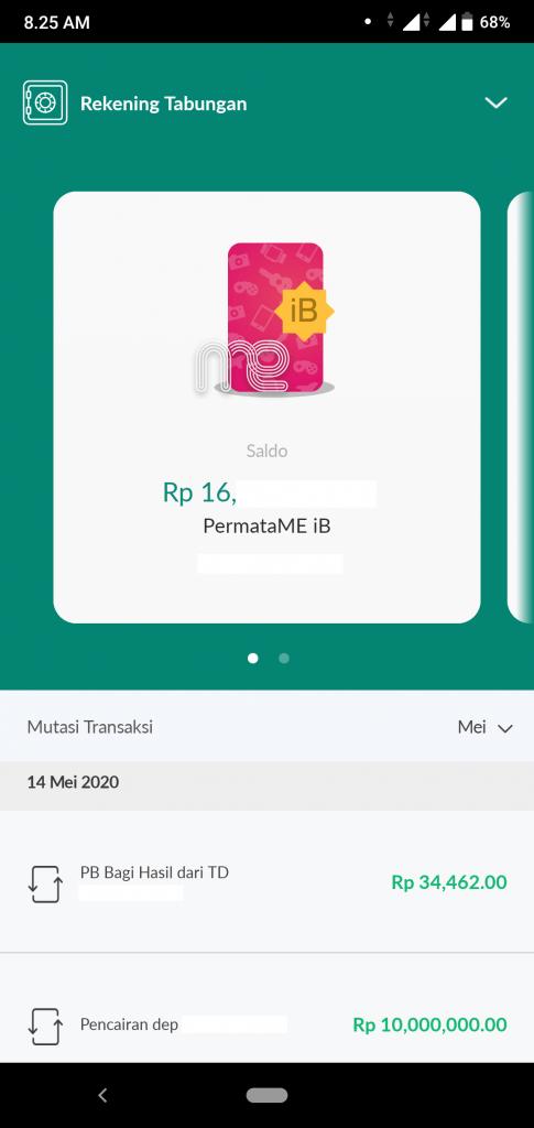 Pengalaman Deposito Syariah Rp 10 Juta Di Bank Permata via PermataMobile X (UPDATE: 14/5/20) 12