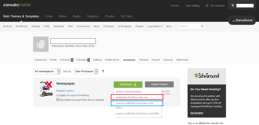STEP BY STEP: Cara Beli Tema di Themeforest dan Install ke Blog WordPress 39