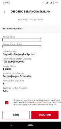 Pengalaman Deposito Syariah Rp 10 Juta di OCBC NISP via Aplikasi ONe Mobile (UPDATE: 2/8/20) 28