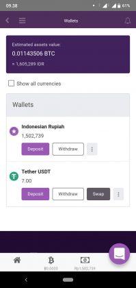 Cara mencarikan saldo di Remitano Wallet ke rekening
