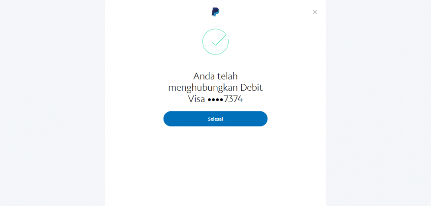 Cara menghubungkan kartu debit atau kartu kredit ke akun PayPal