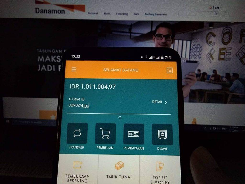 Tampilan awal aplikasi D-Bank