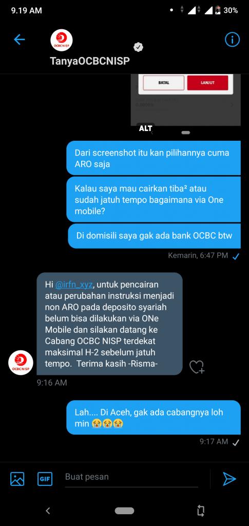 Pengalaman Deposito Syariah Rp 10 Juta di OCBC NISP via Aplikasi ONe Mobile (UPDATE: 2/8/20) 36