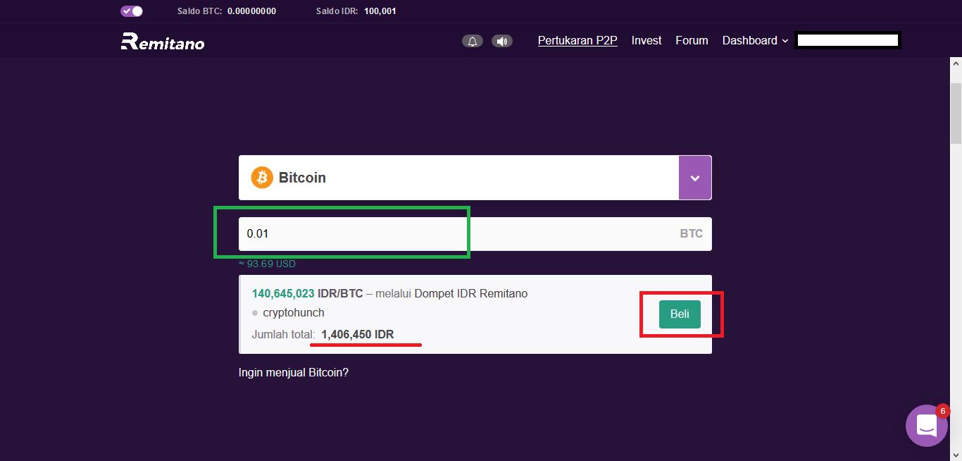 cara beli Bitcoin di Remitano 1
