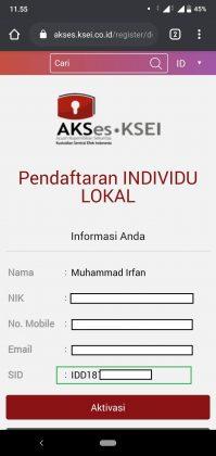 Cara daftar dan login aplikasi AKSes KSEI Mobile