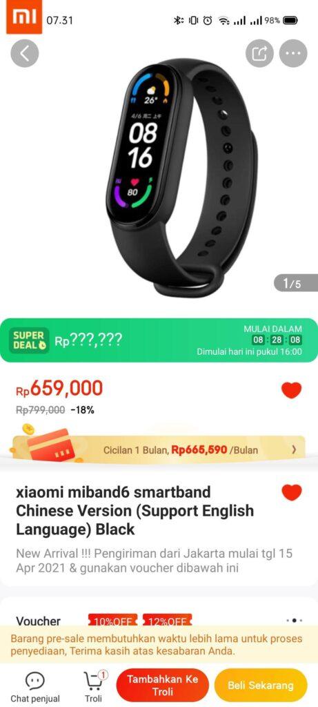 Beli Xiaomi Mi Band 6