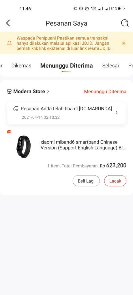 Harga Xiaomi Mi Band 6