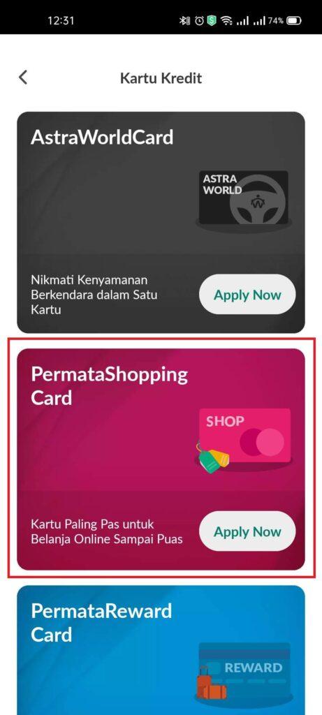 Pengalaman Mudahnya Apply Kartu Kredit Permata Shopping Card via PermataMobile X (UPDATE: 25/7/21) 3