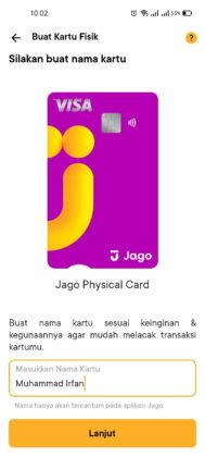 Buat Kartu ATM Bank Jago