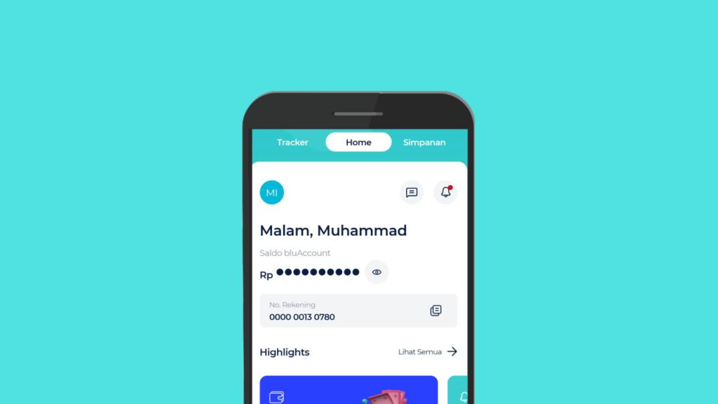 Cover aplikasi blu dari BCA Digital