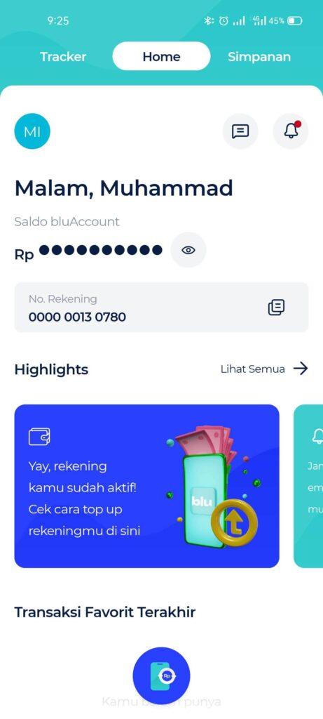 Rekening blu BCA Digital