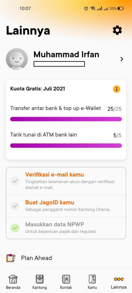 REVIEW Jago 2021: Aplikasi Perbankan dari Bank Jago Milik Gojek 1